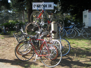 Bikes on a sign